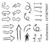 hand drawn doodle arrows. arrow ... | Shutterstock .eps vector #1473879047