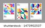 set of retro geometric covers.... | Shutterstock .eps vector #1473902537