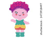cute baby doll isolated on... | Shutterstock .eps vector #1473918497