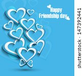 beutiful happy friendship day... | Shutterstock .eps vector #147392441