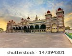 sunset at mysore palace  india | Shutterstock . vector #147394301