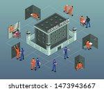 jail prison building isometric... | Shutterstock .eps vector #1473943667