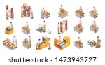 furniture production by modern... | Shutterstock .eps vector #1473943727