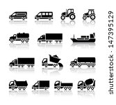 Transport Icons. Vector...