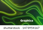 neon glowing lights. geometric...   Shutterstock .eps vector #1473954167