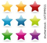 colorful star buttons | Shutterstock .eps vector #147399011