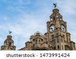The liver birds on the royal...