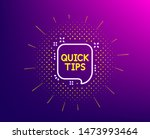 quick tips line icon. halftone... | Shutterstock .eps vector #1473993464
