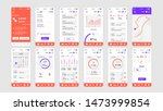 set of ui  ux  gui screens... | Shutterstock .eps vector #1473999854