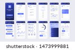 set of ui  ux  gui screens... | Shutterstock .eps vector #1473999881