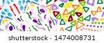 multicolor dirty modern artwork....   Shutterstock . vector #1474008731