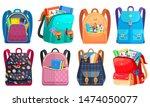 colored school backpack.... | Shutterstock .eps vector #1474050077