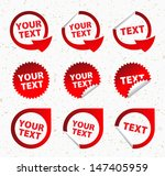 set of labels 2. group of... | Shutterstock .eps vector #147405959