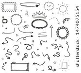 hand drawn infographic elements ... | Shutterstock .eps vector #1474075154