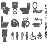 Toilet Vector Set  Toilet Icon...