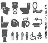 Toilet Vector Set  Toilet Icon...