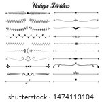 vintage dividers and... | Shutterstock .eps vector #1474113104