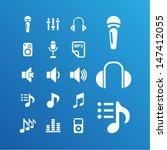 audio icons | Shutterstock .eps vector #147412055