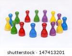colorful  pawns on white... | Shutterstock . vector #147413201