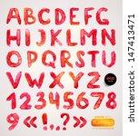 watercolor handwritten alphabet....   Shutterstock .eps vector #147413471