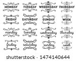 set title week text and swirl... | Shutterstock .eps vector #1474140644