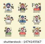 default image of various... | Shutterstock .eps vector #1474145567
