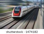 train series   motion blur of a