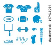vector football icons collection | Shutterstock .eps vector #147419054