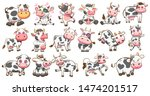 Cow Vector Set Graphic Clipart...