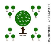 tree natural icons. flat... | Shutterstock .eps vector #1474224644