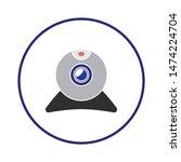 web cam icon. flat illustration ...   Shutterstock .eps vector #1474224704