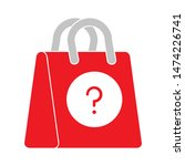 question mark shopping bag icon.... | Shutterstock .eps vector #1474226741
