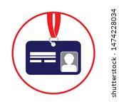 id card icon. flat illustration ... | Shutterstock .eps vector #1474228034