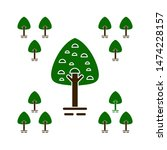 tree natural icons. flat... | Shutterstock .eps vector #1474228157