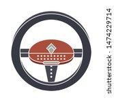 steering wheel icon. flat... | Shutterstock .eps vector #1474229714