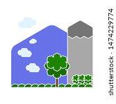 sunset icons. flat illustration ... | Shutterstock .eps vector #1474229774