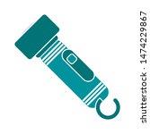 flashlight icon. flat... | Shutterstock .eps vector #1474229867