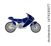 motorcycle icon. flat... | Shutterstock .eps vector #1474230377