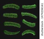 set of vector realistic... | Shutterstock .eps vector #1474236161
