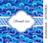 sample card with water waves ... | Shutterstock .eps vector #147423821