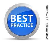 best practice blue button | Shutterstock . vector #147423881