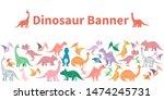 hand drawn funny dinosaurs... | Shutterstock . vector #1474245731