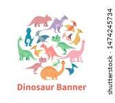 circle banner from cartoon... | Shutterstock . vector #1474245734