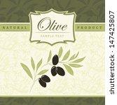 vector decorative olive branch... | Shutterstock .eps vector #147425807