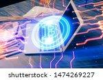 double exposure of blockchain... | Shutterstock . vector #1474269227