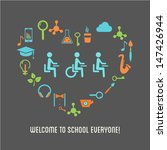 special needs students... | Shutterstock .eps vector #147426944