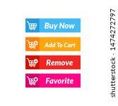buy now button vector design.... | Shutterstock .eps vector #1474272797