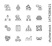 set of team work related vector ... | Shutterstock .eps vector #1474280621
