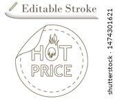hot price icon. editable stroke ...