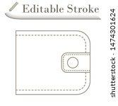 wallet icon. editable stroke...